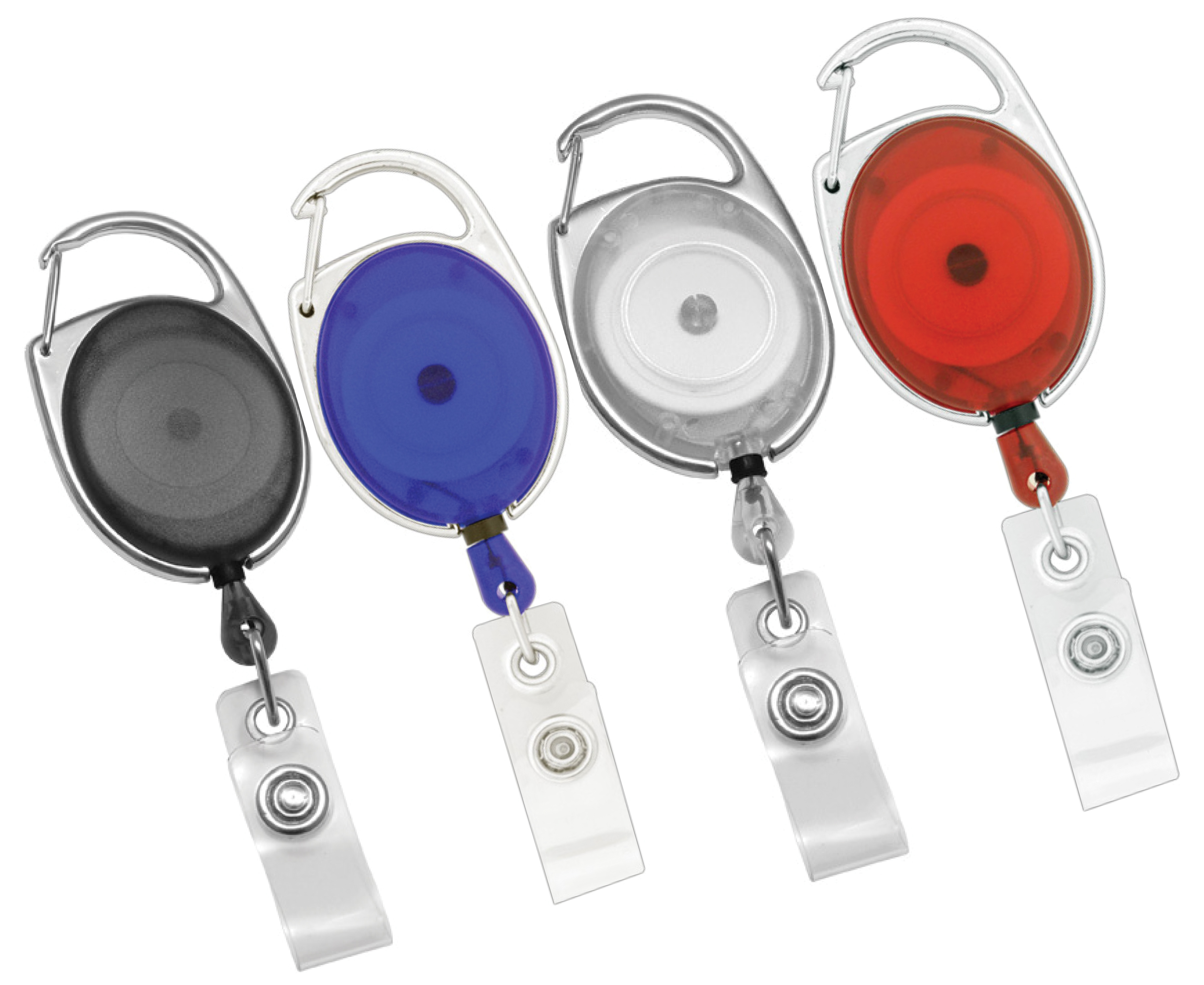 10 carabiner retractable id badge holder free shipping